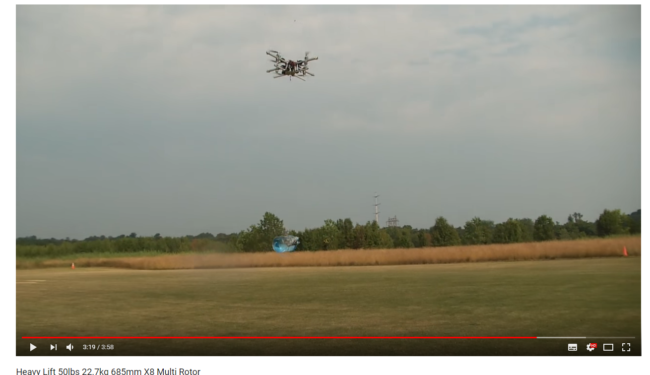 Drone Lifting Water