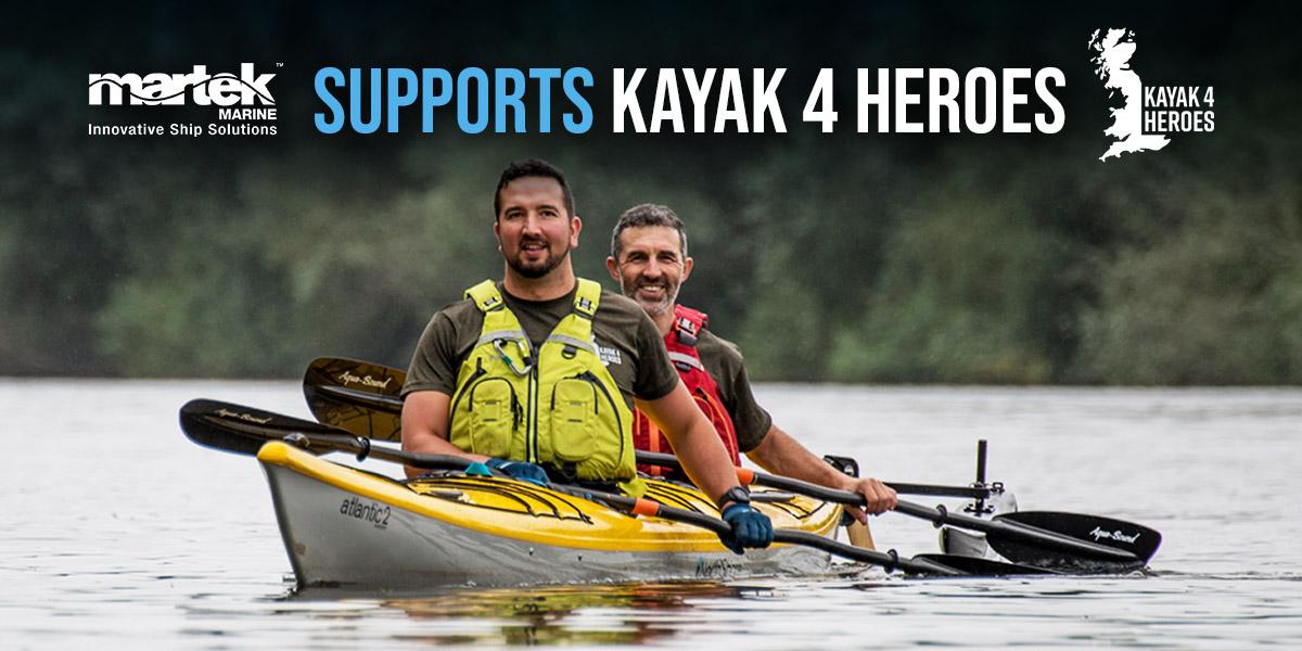 Martek Marine Proudly Supports Kayak 4 Heroes