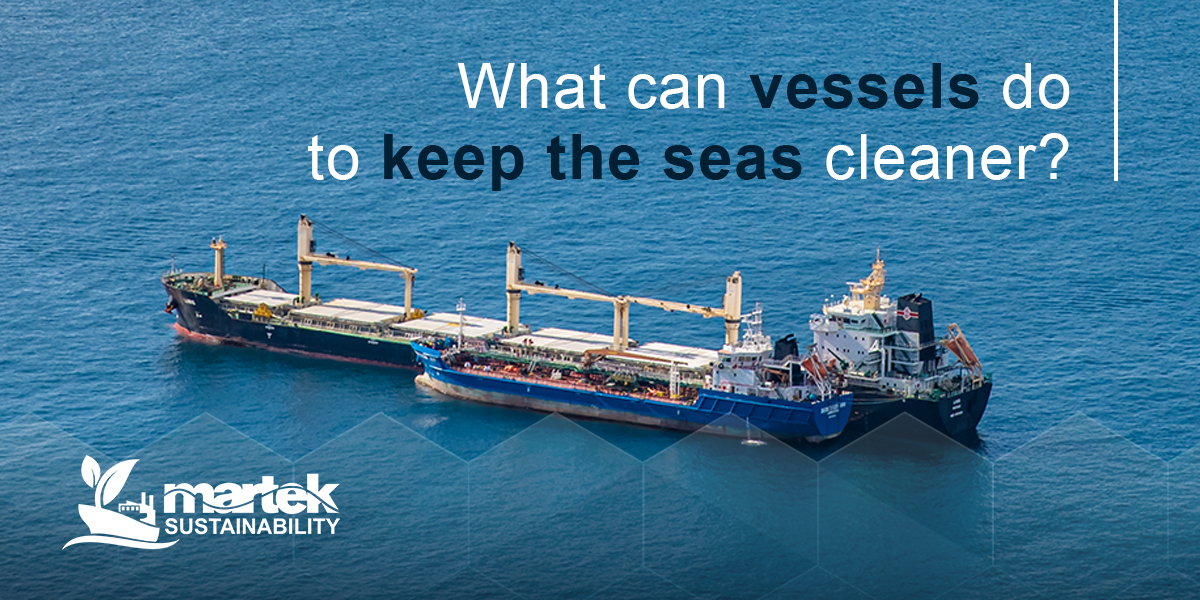 What can vessels do to keep the seas cleaner?